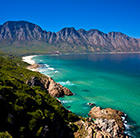 A view of Cape Town's mountains and coast, which can be visited via a cheap flight from Flight Centre.
