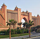 A view of a world-famous resort in the UAE, which can be visited with a cheap flight from Flight Centre.